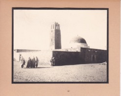 TOZEUR TUNISIE Ambiance De Rue Mosquée 1923. Photo Amateur Format Environ 5,5 Cm X 5 Cm - Lieux