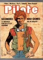 Pilote N°115 Le Petit Desproges Illustré - Masques De Cyrano - War Games - Lucky Luke The Movie De 1983 - Pilote