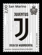 San Marino 2019 Mih. 2800 Juventus - Italian Football Champion 2018/19 MNH ** - San Marino