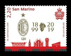 San Marino 2019 Mih. 2801 AC Milan Football Club MNH ** - San Marino