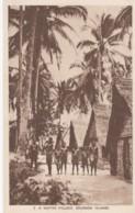 Solomon Islands, Native Villages And Huts, South Pacific Oceania, C1930s/50s Vintage Postcard - Solomon Islands