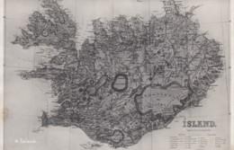 Map Of Iceland, C1910s(?) Vintage Postcard - Iceland