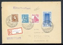 Bizone Satzbrief MiNr. 69-72 Mischfrankatur R-Brief (XXX - Franse Zone