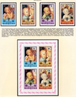 YEAR INTERN. OF CHILD - BARBUDA - Mi. Nr. 465/468 + BF 47 - NH - (6532-38.) - Antigua E Barbuda (1981-...)