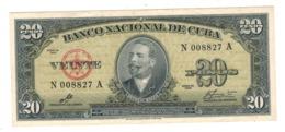 Cuba 20 Pesos 1960. XF. - Cuba