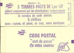 """CARNET 1972-C 1 Sabine """"CODE POSTAL"""" Fermé Gomme Brillante état Soigné Bas Prix RARE Et Peu Proposé - Uso Corrente"""