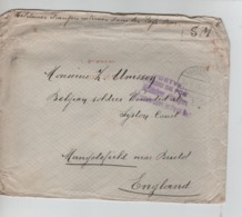 PR7374/ Lettre S.M. Franc De Port C.Harderwyck 1915 PDG-POW Interné Aux Pays-Bas > England - WW I