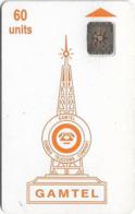 Gambia - Gamtel - Logo Orange, 60Units, SC4 AFNOR, Used - Gambia