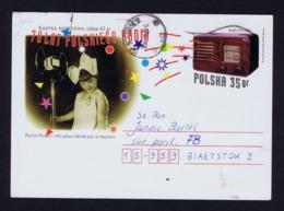 POLSKA Old Radio 70th Anniv 1995 Postal Stationery Gc4354 - Art