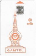 Gambia - Gamtel - Logo Orange, 60Units, CN. On Plain White Surface, SC7 ISO, Used - Gambia