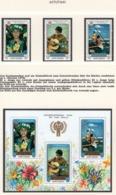 YEAR INTERN. OF CHILD - AITUTAKI - Mi. Nr. 304/307 + BF 24 - NH - (6532-38.) - Aitutaki