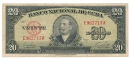 Cuba 20 Pesos 1949 , VF. - Cuba