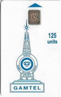 Gambia - Gamtel - Logo Orange, 125Units, SC5 ISO, Cn. 47092 Embossed On Plain White, With Hole On Rev, Used - Gambia