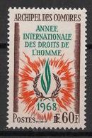 Comores - 1968 - N°Yv. 49 - Droits De L'homme / Human Rights - Neuf Luxe ** / MNH / Postfrisch - Komoren (1950-1975)
