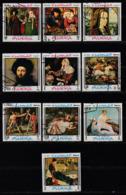 Fujeira 1968.  Paintings . 10v. Gest, Used. - Ver. Arab. Emirate