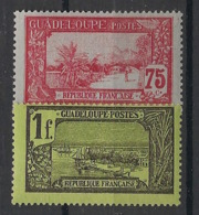 Guadeloupe - 1905-07 - N°Yv. 68 Et 69 - Pointe à Pitre - 75c / 1fr - 2 Valeurs - Neuf Luxe ** / MNH / Postfrisch - Unused Stamps