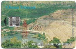 Ghana - Ghana Telecom - Akosombo Dam - 01.1998, 150U, 50.000ex, Used - Ghana