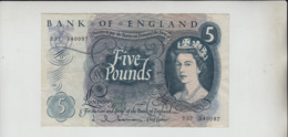 AB699 Bank Of England £5 Banknote Series C 1963-73 #D37 540097 FREE UK P+PBUY 1 GET 1 (CHEAPEST) 1/2 PRICE BANKNOTES - 1952-… : Elizabeth II