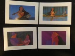 4 Carte Postale Disney Pocahontas - Disney