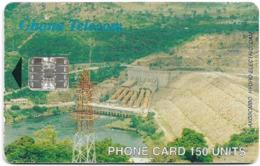 Ghana - Ghana Telecom - Akosombo Dam - 04.2001, 150U, 40.000ex, Used - Ghana
