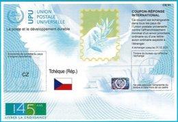 Czech Republic International Reply Coupon IRC 2019 ISTANBUL ICR IRC CRI Hologram 145 Years Of UPU - U.P.U.