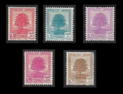 LIBAN  1937 -  YT  150  à 154  -  Cèdre - Lebanon