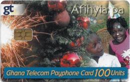 Ghana - Ghana Telecom - Christmas - 11.2004, 100U, Chip AX02, 100.000ex, Used - Ghana