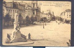 24. COURTRAI - Monument De Haene Et Un Coin De La Grand'Place - Kortryk, Standbeeld De Haene ... - Kortrijk