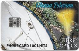 Ghana - Ghana Telecom - Fibre Optics - 08.2000, 100U, 60.000ex, Used - Ghana