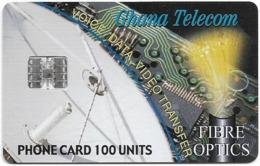 Ghana - Ghana Telecom - Fibre Optics - 12.2000, 100U, 40.000ex, Used - Ghana