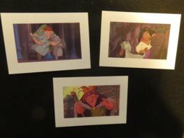 3 Cartes Postales Disney, Le Bossu De Notre Dame - Altri