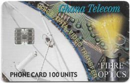 Ghana - Ghana Telecom - Fibre Optics - 02.2001, 100U, 40.000ex, Used - Ghana