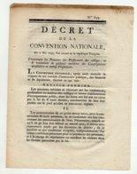 Décret 1793 De 4 Pages - Documents Historiques