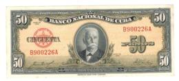 Cuba 50 Pesos 1958. UNC. - Cuba