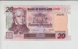 AB120. Bank Of Scotland £20 Banknote 22nd March 1999. #CZ480935 FREE UK P+PBUY 1 GET 1 (CHEAPEST) 1/2 PRICE BANKNOTES - Scozia
