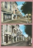 2 CPSM Grand Format-  Puybrun  -(Lot) - La Rue Nationale  - Rue Principale - Frankreich