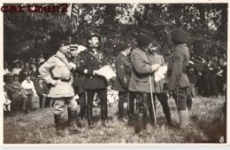 CARTE PHOTO : MANDRES AOUT 1917 FETE DU BATAILLON REMISE DES PRIX SOLDATS MILITAIRES CHASSEURS ALPINS ? E. VENAN BRUNOY - Mandres Les Roses