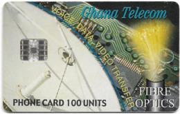 Ghana - Ghana Telecom - Fibre Optics - 09.2001, 100U, 340.000ex, Used - Ghana