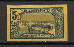 Guadeloupe - 1905-07 - N°Yv. 71a - Pointe à Pitre 5fr - Non Dentelé / Imperf. - Neuf (*) / MNG - Unused Stamps
