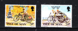 Man - 1973 . 50^ Anniv. Del G.P. Motociclistico. 50 ^ Anniv. Of The G.P. Motorcycle. Complete MNH Series - Motorbikes