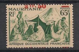 Mauritanie - 1944 - N°Yv. 133 - 3f50 Sur 65c Vert - Surcharge à Cheval - Neuf GC ** / MNH / Postfrisch - Mauritanien (1906-1944)