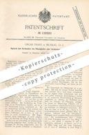 Original Patent - Oscar Franz , Muskau , 1899 , Verdunsten Von Flüssigkeiten | Gas - Gemisch | Gase | Chemie !!! - Historische Dokumente