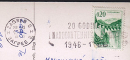 Croatia Zagreb 1966 / 20 Godina NARODNA TEHNIKA ZAGREB 1946 - 1966 / Machine Stamp, Flamme - Croatia