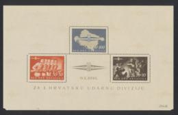 Croatie - Mi Block Br. 8 ** MNH Réimpression + Certificat / Reprint - Kroatien