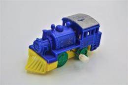Vintage WHITE KNOB WINDING TOY : BLUE TRAIN  - 19**'s - 20**'s - RaRe  - Vintage - Wind Up - Figurines