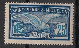 SPM - 1909-17 - N°Yv. 84 - Goéland 25c - Neuf Luxe ** / MNH / Postfrisch - Nuevos