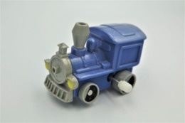Vintage WHITE KNOB WINDING TOY : BLUE TRAIN - Quick - Fastfood - 19**'s - 20**'s - RaRe  - Vintage - Wind Up - Figurines