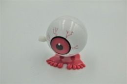 Vintage WHITE KNOB WINDING TOY : Jumping Eye - 19**'s - 20**'s - RaRe  - Vintage - Wind Up - Figurines