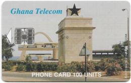 Ghana - Ghana Telecom - Independence Square, Accra - 05.1999, 100U, 50.000ex, Used - Ghana
