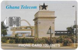 Ghana - Ghana Telecom - Independence Square, Accra - 12.1999, 100U, 75.000ex, Used - Ghana